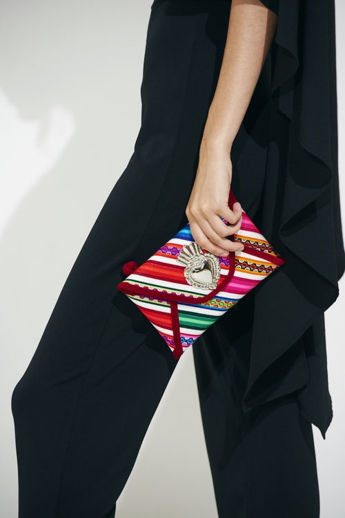 Small Red Base Milagro Clutch