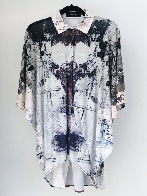 Wine Paint Blouse