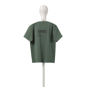 AFFX WRKS AFFIX WORKS STANDARDISED LOGO RIB T-SHIRT FIELD GREEN