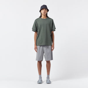 AFFIX WORKS AFFX WRKS DUAL SLEEVE T-SHIRT FIELD GREEN