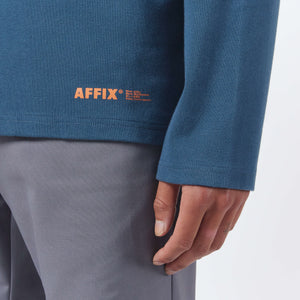 AFFIX WORKS AFFX WRKS MICRO LOGO LS T-SHIRT CHROME BLUE
