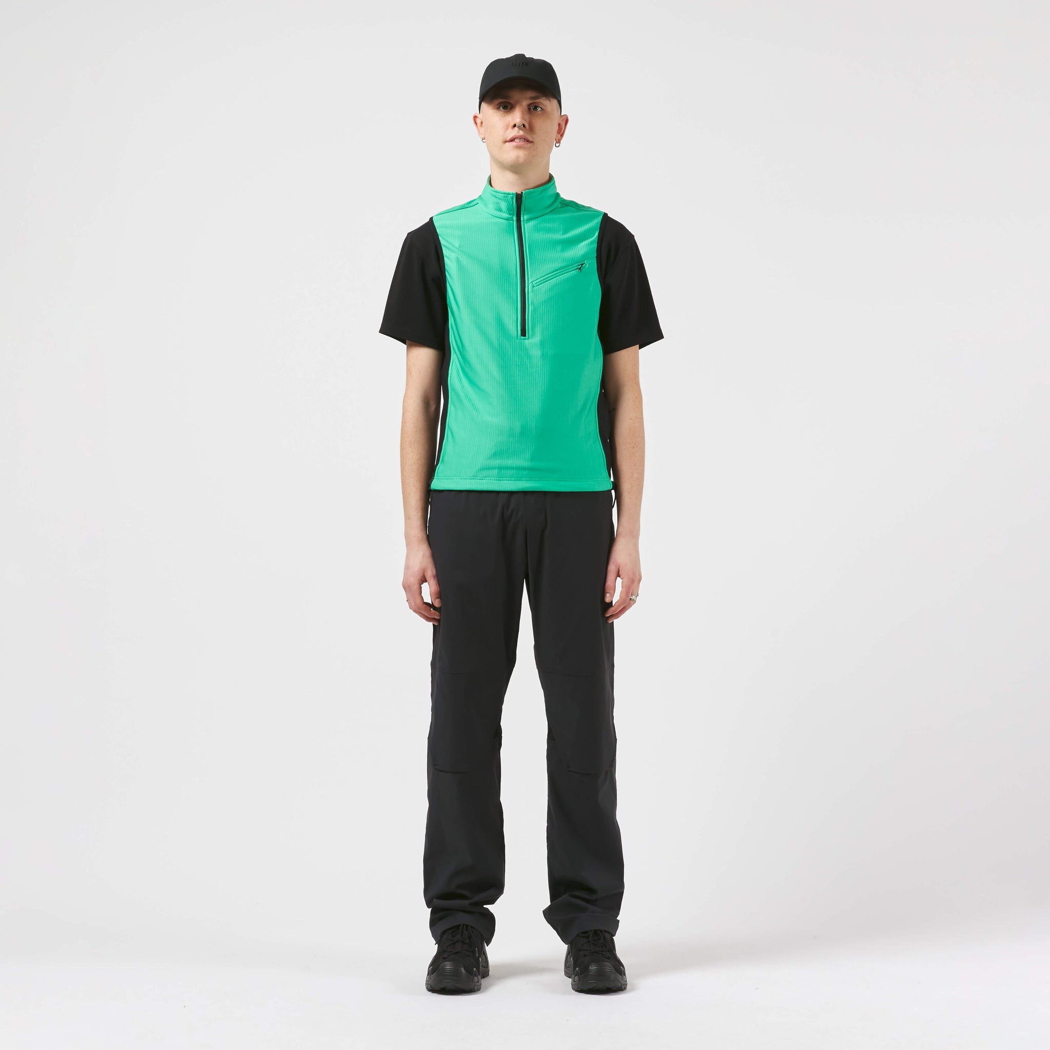 AFFX WRKS AFFIX WORKS PANEL VEST BLAZE GREEN EXCLUSIVE
