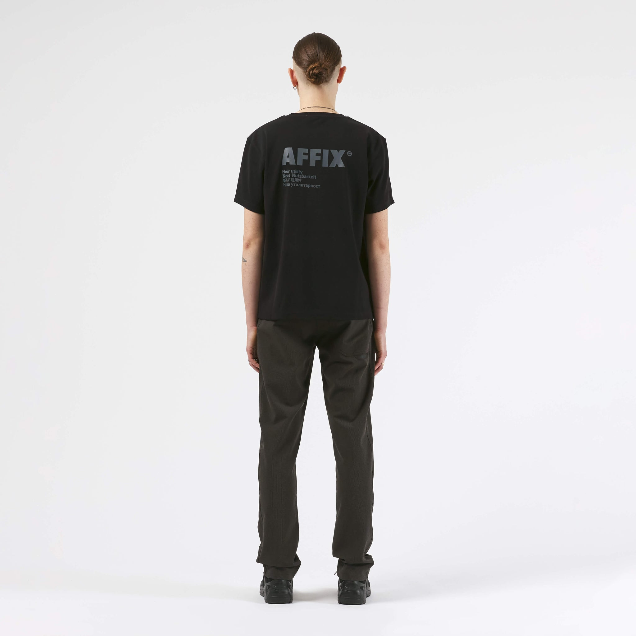 AFFX WRKS AFFIX WORKS STANDARDISED LOGO RIB T-SHIRT BLACK
