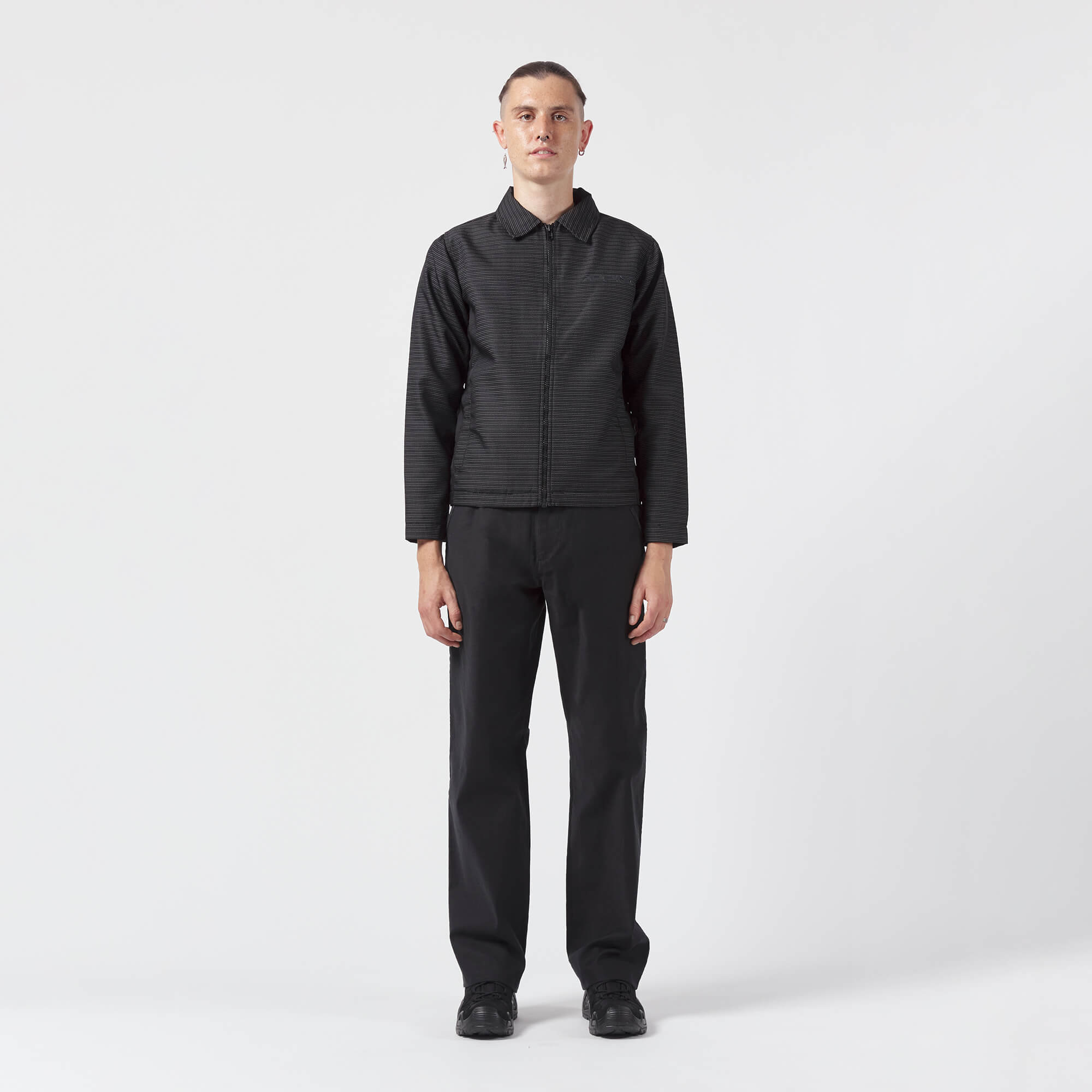 AFFIX WORKS AFFXWRKS VISIBILITY COACH JACKET BLACK