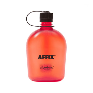 AFFIX WORKS AFFXWRKS STANDARD LOGO NALGENE BOTTLE 1.0L RED