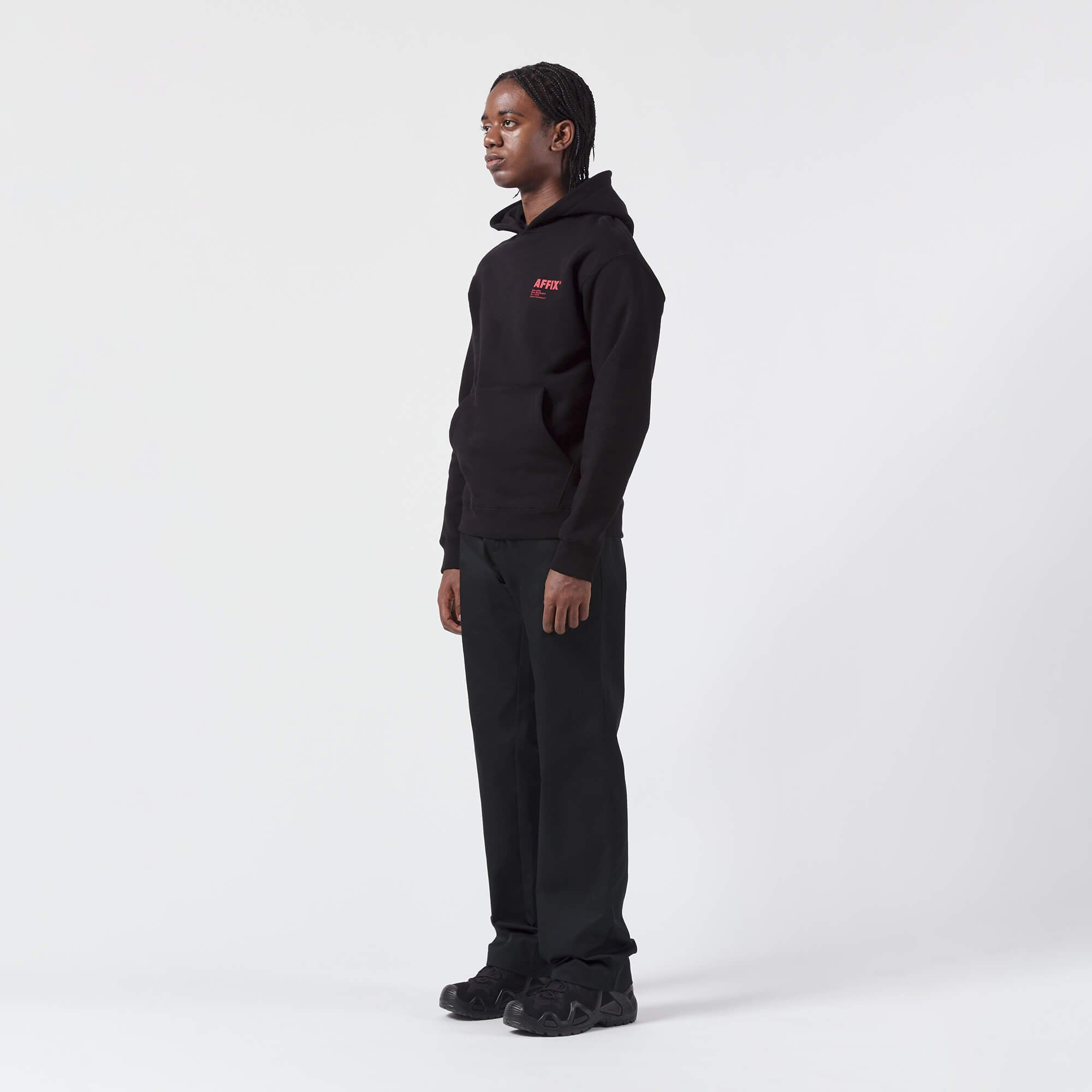 AFFIX WORKS AFFXWRKS STANDARDISED LOGO HOODIE BLACK