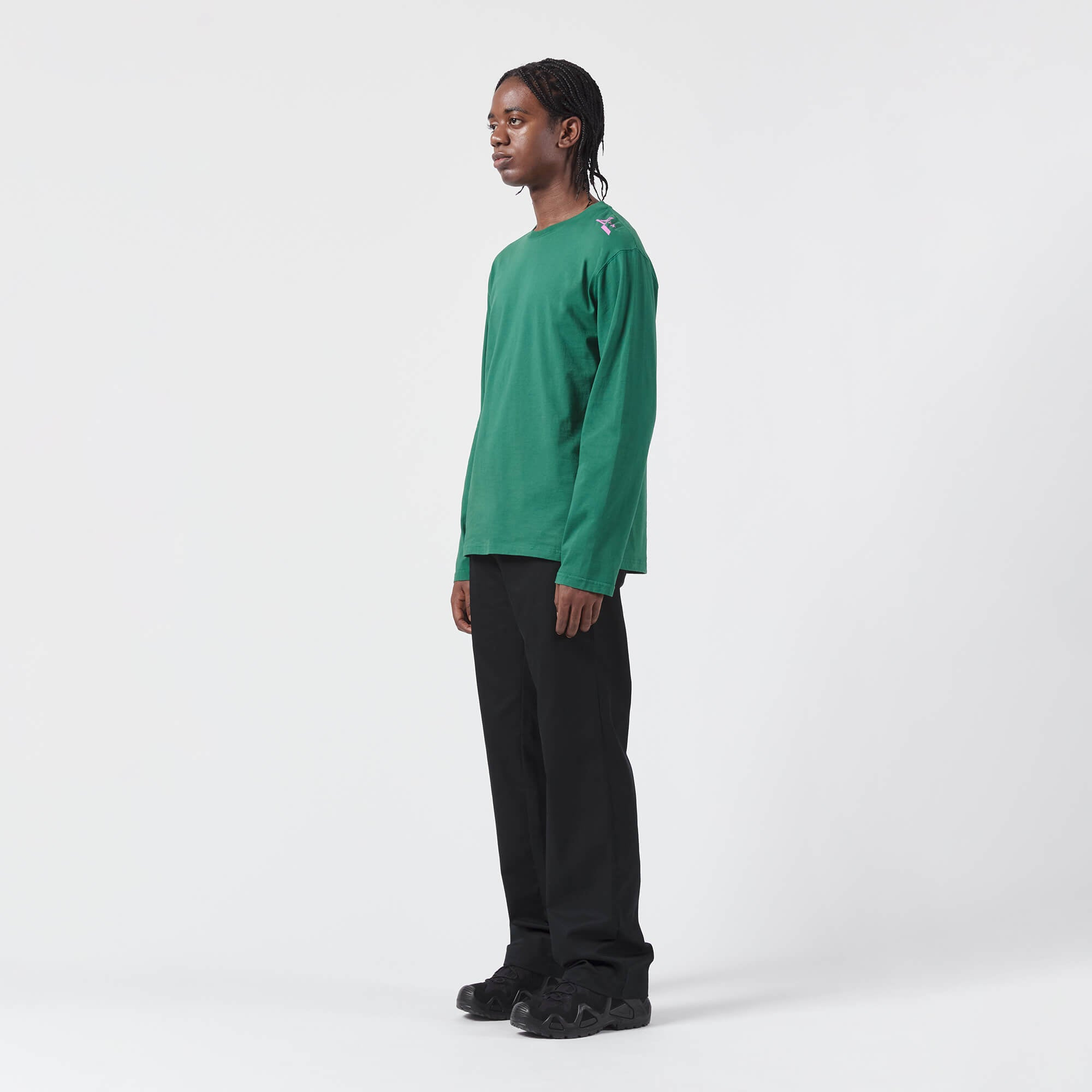 AFFIX WORKS AFFXWRKS FOLEY SEQUENCE LONGSLEEVE T-SHIRT GREEN