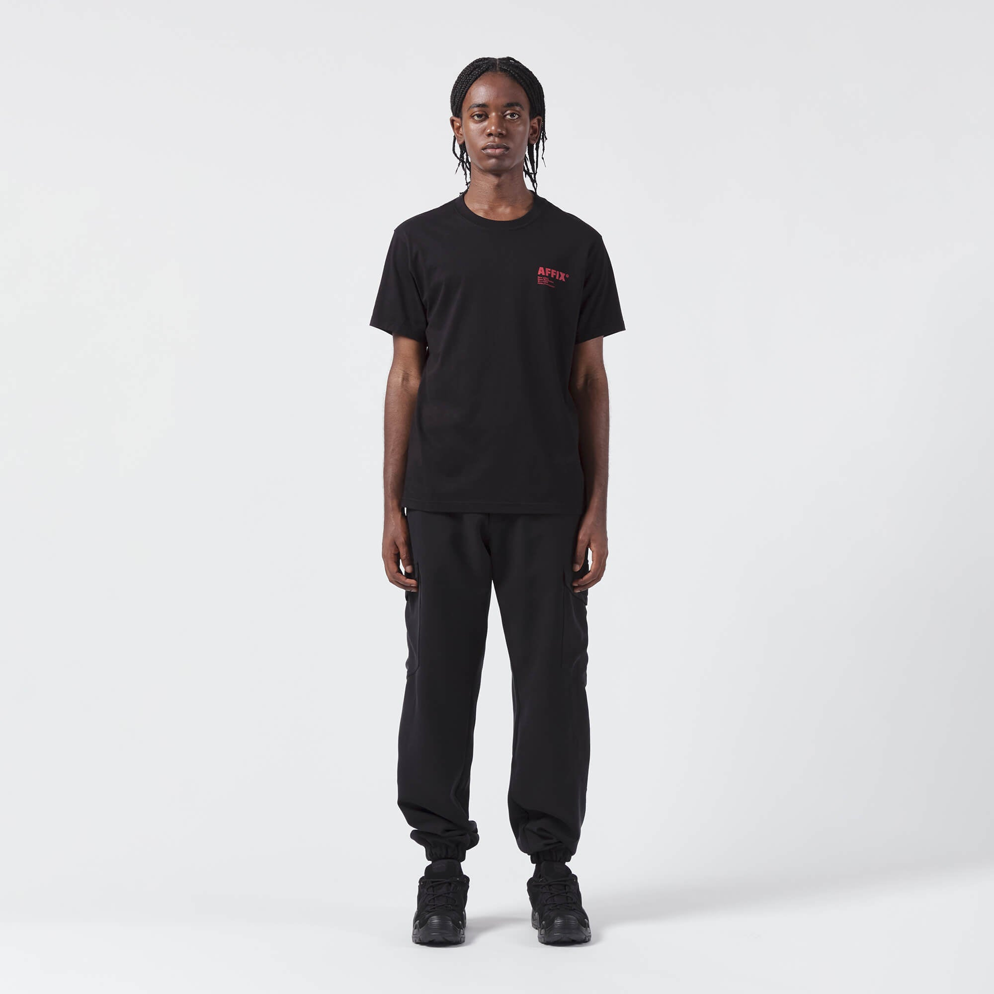 AFFIX WORKS AFFXWRKS STANDARDISED LOGO T-SHIRT BLACK