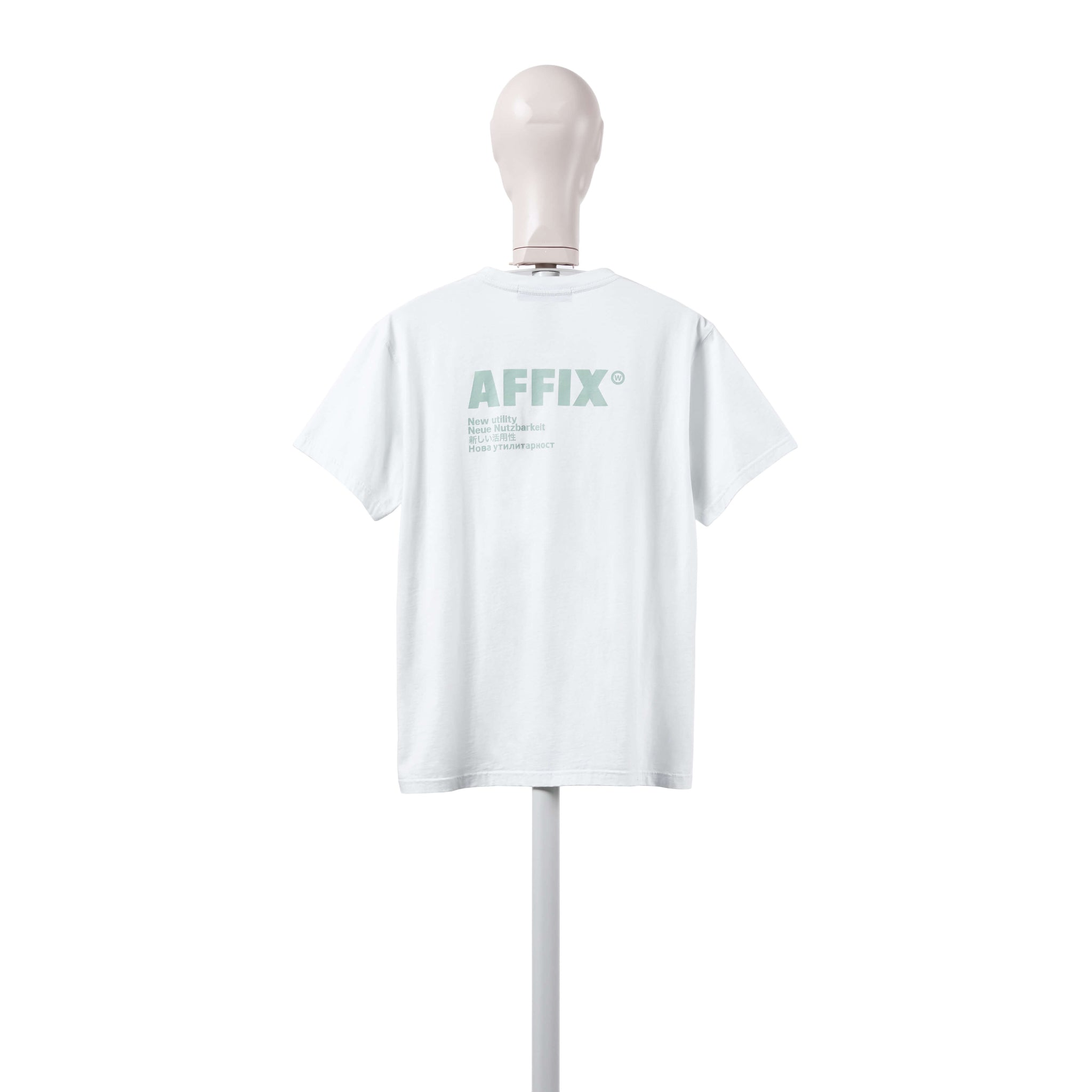 AFFIX WORKS AFFXWRKS STANDARDISED LOGO T-SHIRT LIGHT MINT