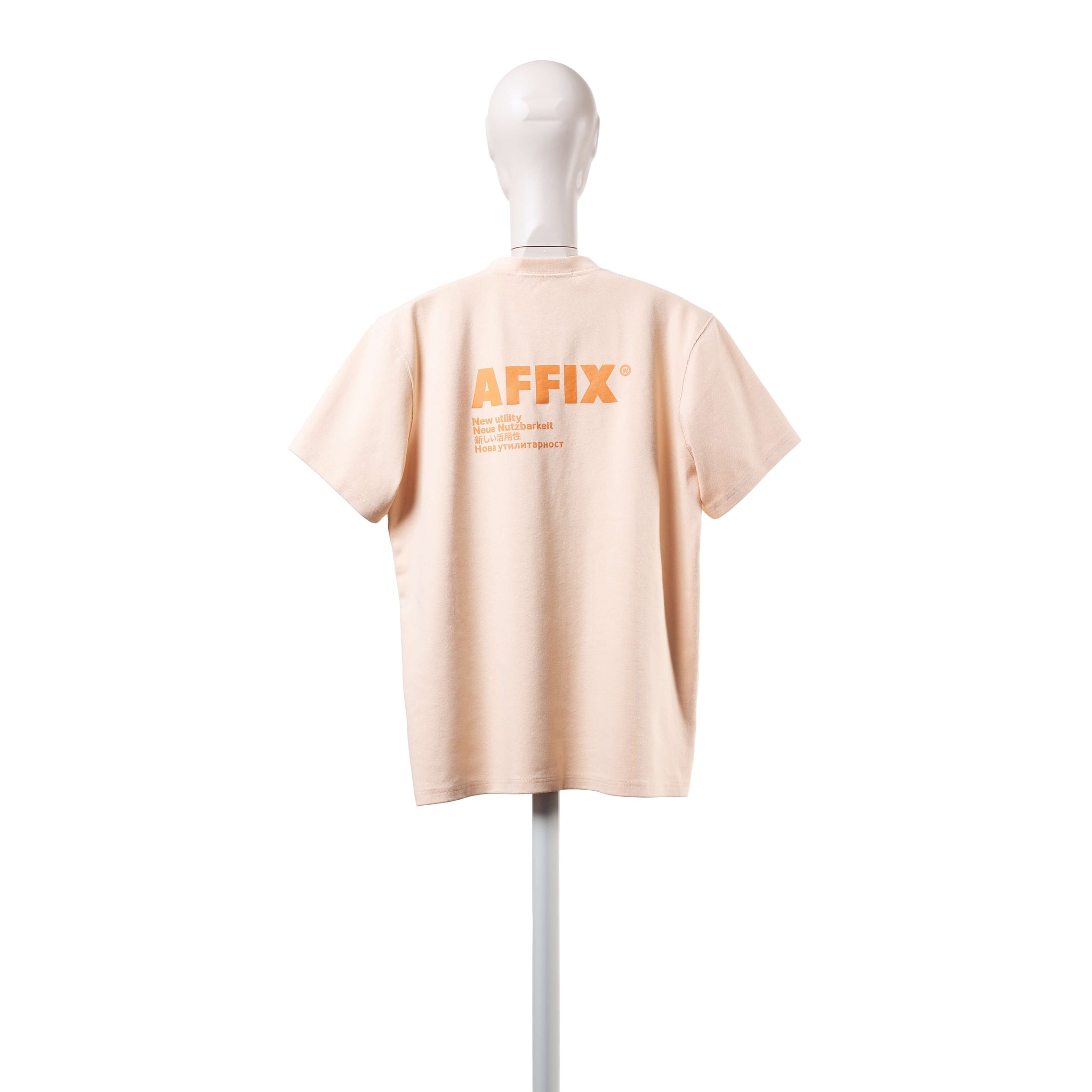 AFFIX WORKS AFFX WRKS STANDARDISED LOGO POCKET T-SHIRT PLASTER