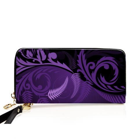 New Zealand Silver Fern Wallet Purple - 1st New Zealand