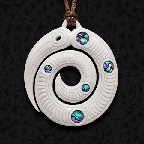 Taniwha Bone Carving Necklace