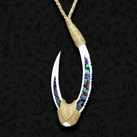 Hei Matau Bone Carving Necklace 01