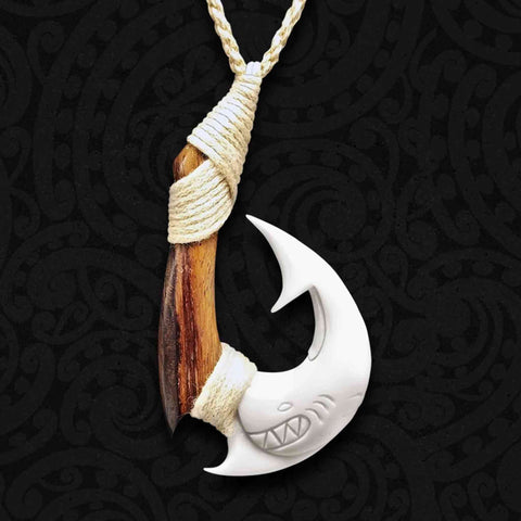 Hei Matau Bone Carving Necklace 03
