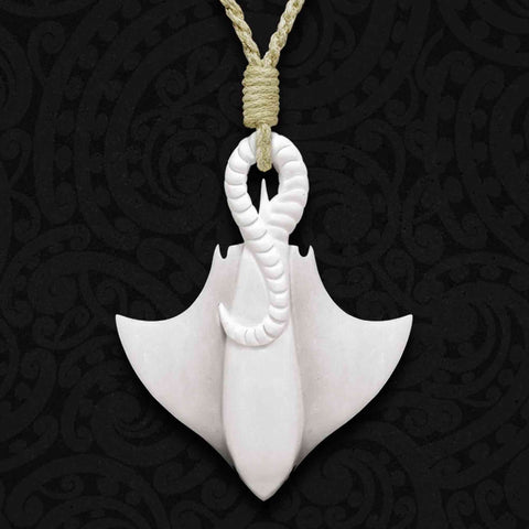 Whaitere Bone Carving Necklace