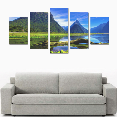 Image of New Zealand Milford Sound Canvas Print K4 - 1st New Zealand