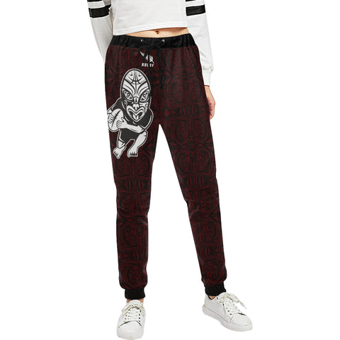 Rugby Haka New Style - Dark Red Sweatpants K47 - 1st New Zealand