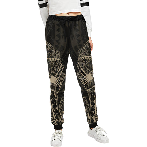 Maori Tattoo New Zealand Sweatpants with Golden color - Front - For Women