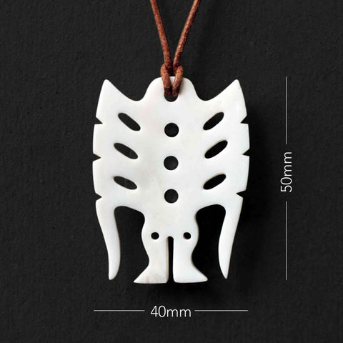 Frigate Bird Pendant Bone Carving Necklace