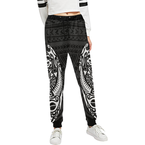 Maori Tattoo New Zealand Sweatpants Version 2.0 with White color - Front - For Women