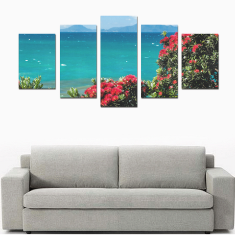 Image of New Zealand Pohutukawa Canvas Print K4 - 1st New Zealand