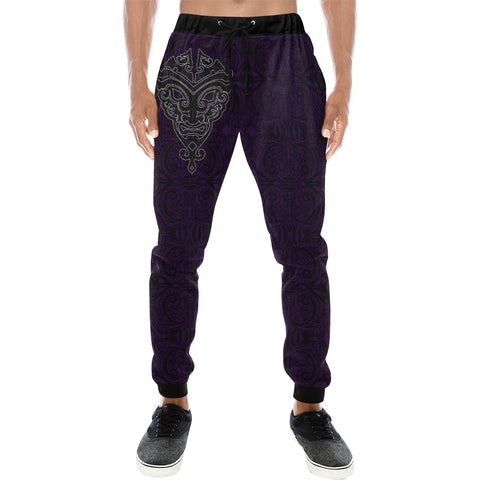 Maori Face - Dark Blue Sweatpants - sweatpants for men/women