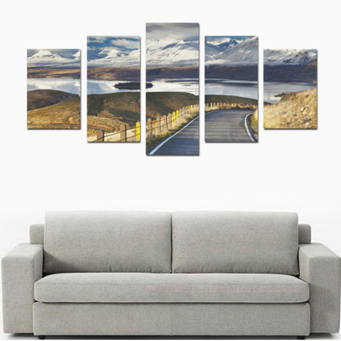 New Zealand Southern Alps and Lake Tekapo Canvas Print K4 - 1st New Zealand