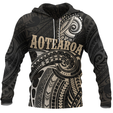 Maori Tattoo with Map New Zealand All Over Hoodie K4 - 1st New Zealand