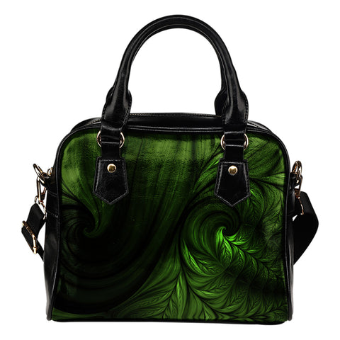 New Zealand Koru Fern Art Shoulder Handbag K4 - 1st New Zealand