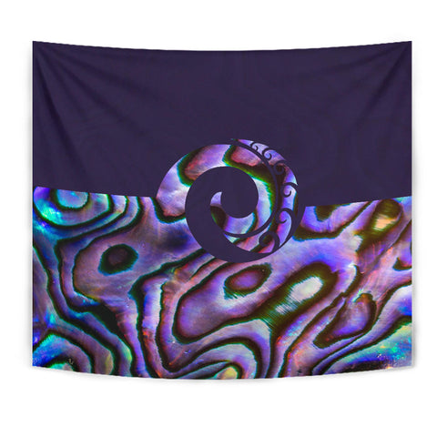 Purple Paua Shell Koru New Zealand Tapestry K5 - 1st New Zealand