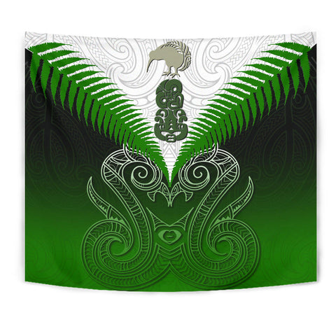 Maori Manaia New Zealand Tapestry Green K4 - 1st New Zealand