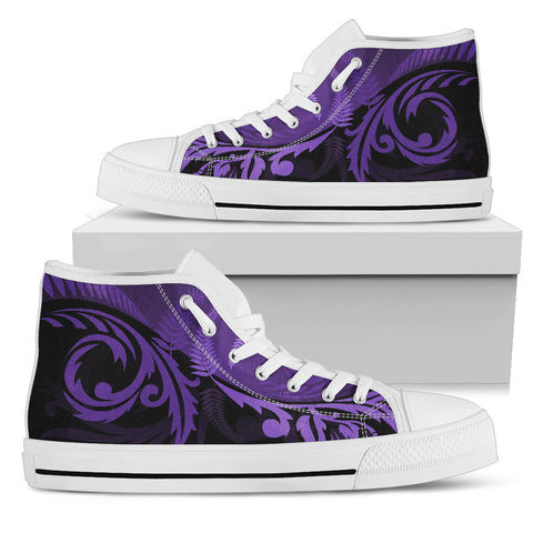 Silver Fern High Top Shoes Purple - 1st New Zealand