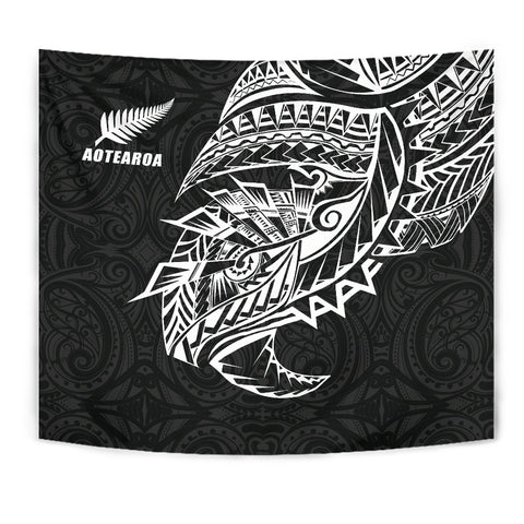 Maori Tattoo Tapestry Polynesian Style Black K4 - 1st New Zealand
