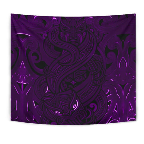 New Zealand Tapestry, Maori Gods Tumatauenga (God of War) - Purple K4 - 1st New Zealand