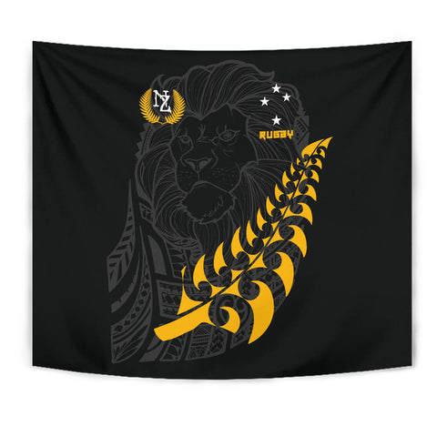 Image of New Zealand Maori Lion Rugby Tapestry K5 - 1st New Zealand