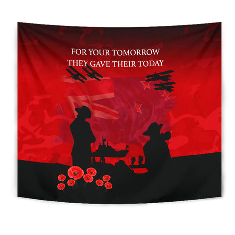 Anzac Heroes New Zealand Tapestry - Lest We Forget K5 - 1st New Zealand