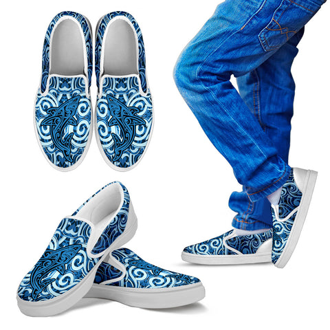 Maori Shark Slip Ons K7 - 1st New Zealand