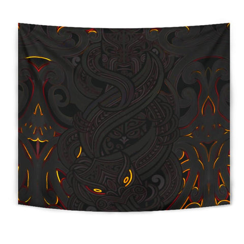 New Zealand Tapestry, Maori Gods Tumatauenga (God of War) - Black K4 - 1st New Zealand