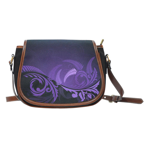 Silver Fern Leather Saddle Bag Purple - 1st New Zealand