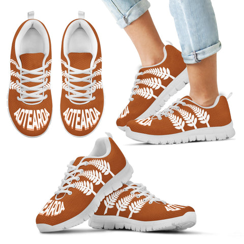Aotearoa Sneakers - Silver Fern Orange Style TH0 - 1st New Zealand