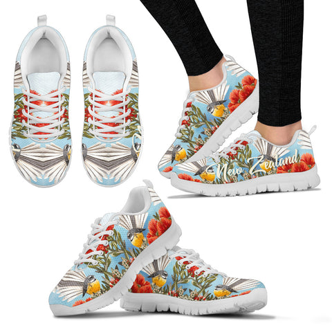 Fantail New Zealand Women Sneakers - White Shoelaces