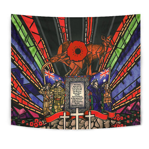 Image of New Zealand Tapestry, Anzac Day Lest We Forget Australia Th00 - 1st New Zealand