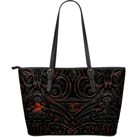 New Zealand Warriors Leather Tote Maori Tiki Vocalno Style Th00 - 1st New Zealand
