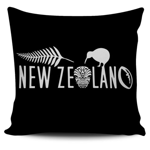 New Zealand Pillow Cover Haka Rugby Exclusive Edition K4 - 1st New Zealand