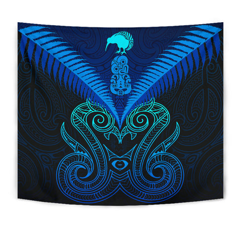 Maori Manaia New Zealand Tapestry Blue K4 - 1st New Zealand