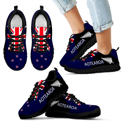 Image of Aotearoa-New Zealand Running Sneakers Silver Fern Th5 - 1st New Zealand