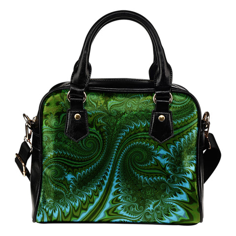 New Zealand Koru Shoulder Handbag - Abstract Style 02 K4 - 1st New Zealand