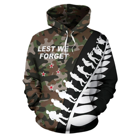 New Zealand Anzac Hoodie, Lest We Forget Remembrance Day Pullover Hoodie K5 - 1st New Zealand