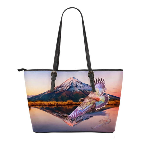 Image of New Zealand Kea Bird Small Leather Tote K4