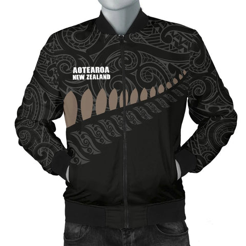 Image of Maori Silver Fern 2nd Men's Bomber Jacket A6 - 1st New Zealand